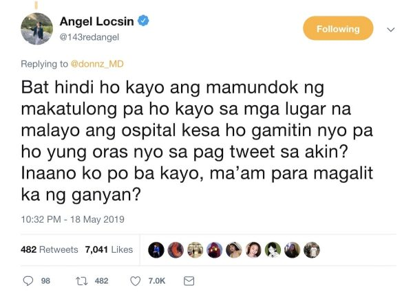 Angel Locsin is not afraid of bashers